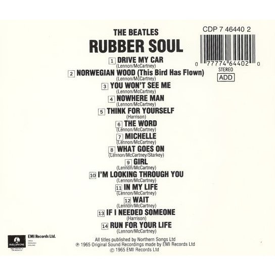rubber soul by the beatles cd with mferion ref 117747518
