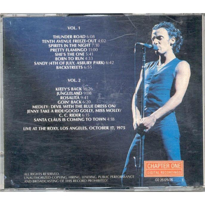Backstreets (roxy los angeles 17 10 1975) by Bruce Springsteen, CD x 2 with  gmvrecords