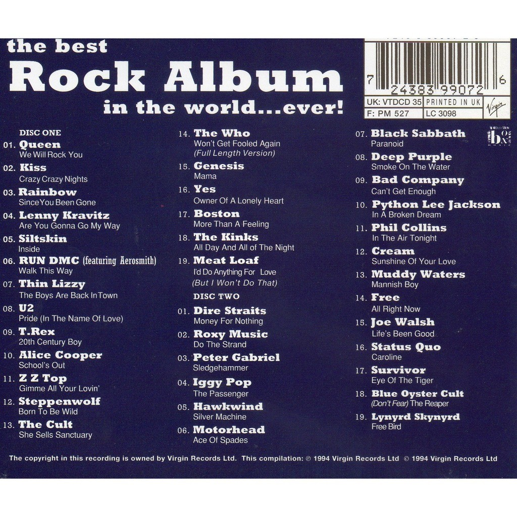 Various Artists The Best Rock Album (in the world...ever)