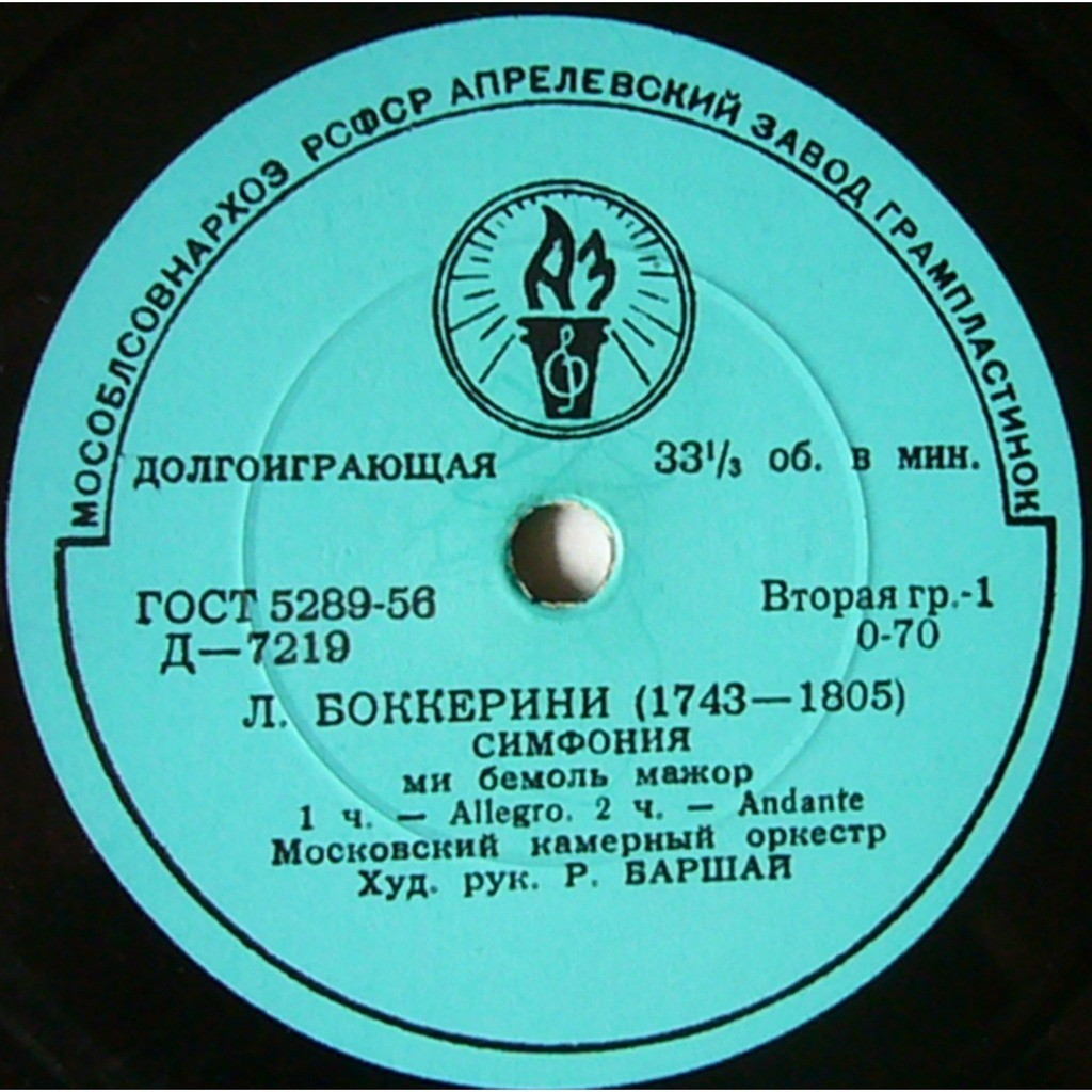 Barshai, Rudolf Boccherini Symphony in E flat major Night Watch in Madrid USSR TORCH 1st D7219 MINT