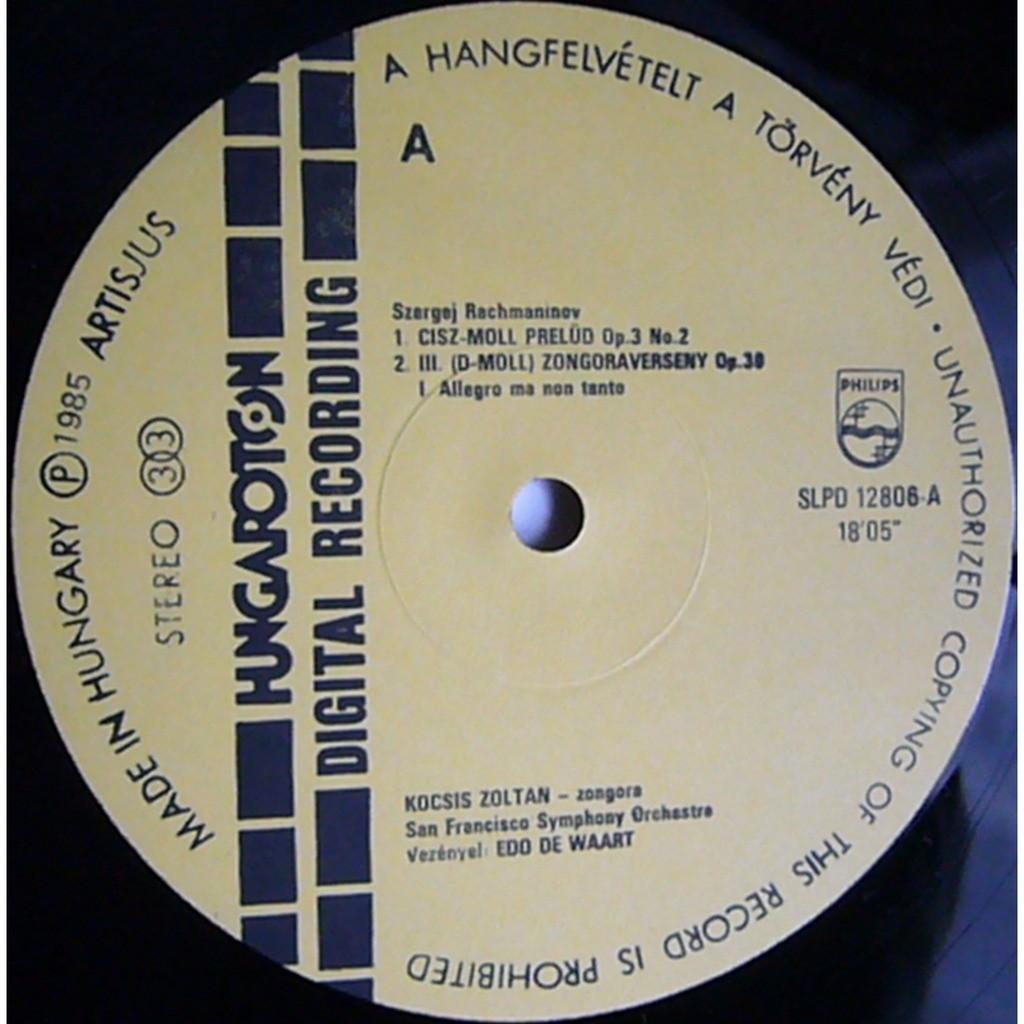 Rachmaninov Piano Concerto 3 Vocalise Rec 1983 84