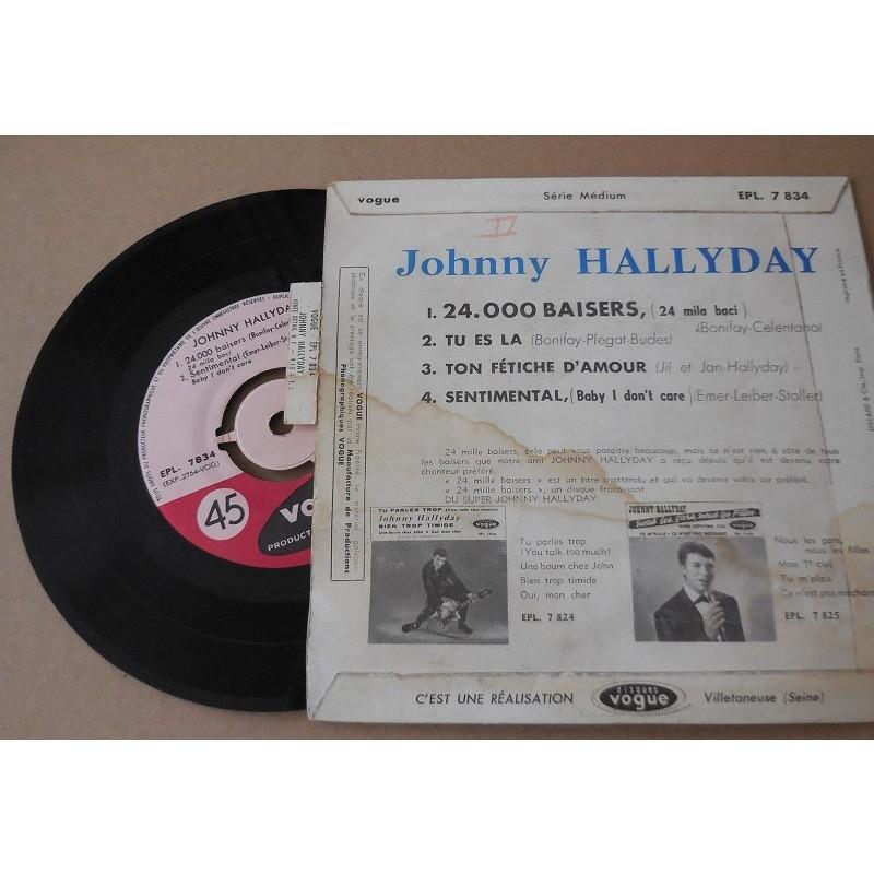 johnny hallyday 24000 Baisers + 3 languette et centreur