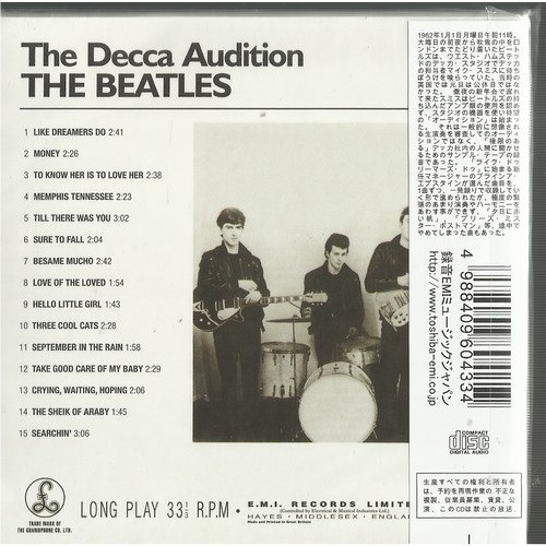 the beatles the decca audition