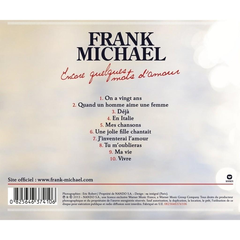 Encore Quelques Mots Damour De Frank Michael Cd Con Omni10