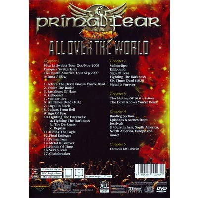 16 6 all over the world by Primal Fear, DVD with ledotakas
