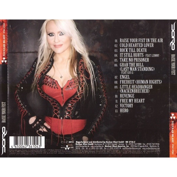 Raise Your Fist By Doro Cd With Techtone11 Ref 117785998