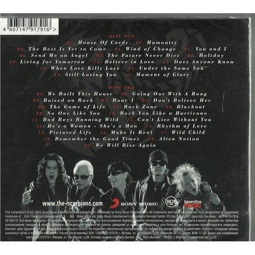 greatest hits by scorpions cd x 2 with rockinronnie ref
