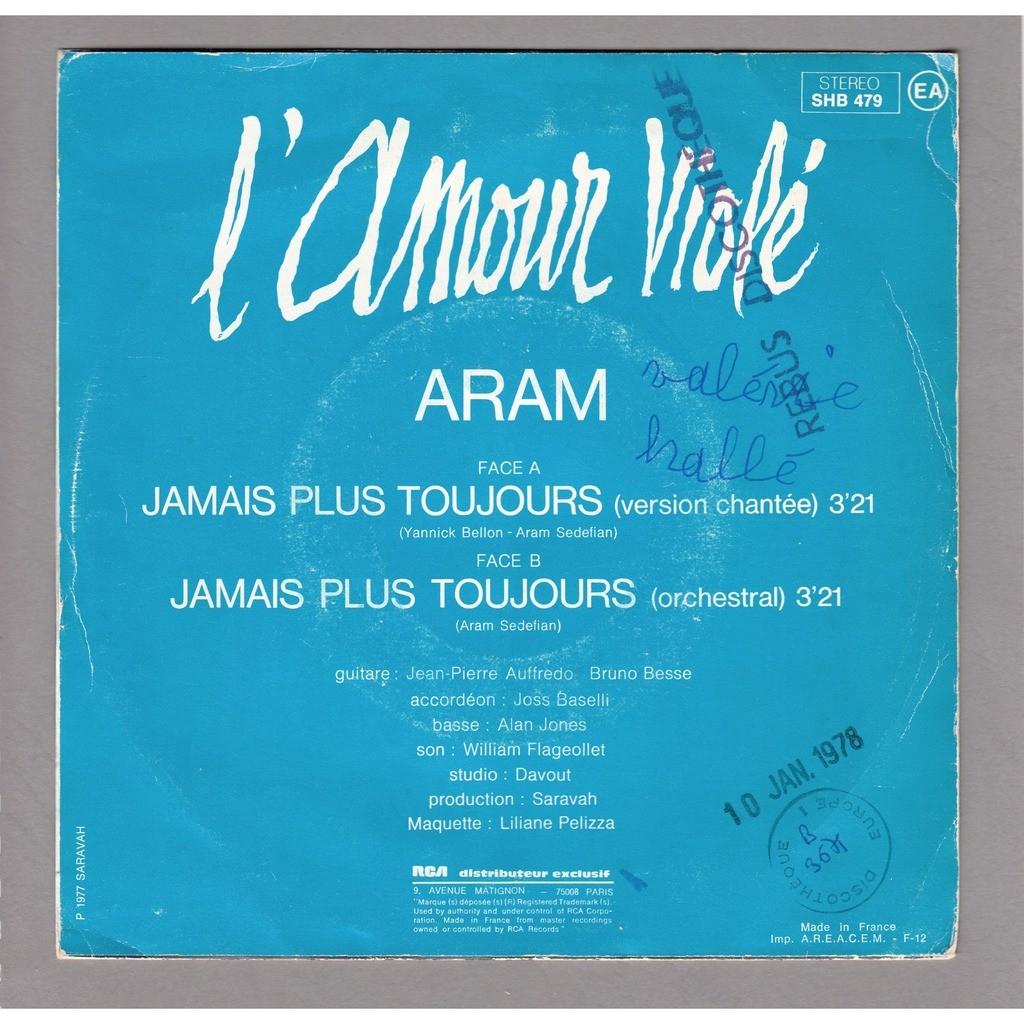 aram sedefian BO du film l'amour violé de Yannick Bellon