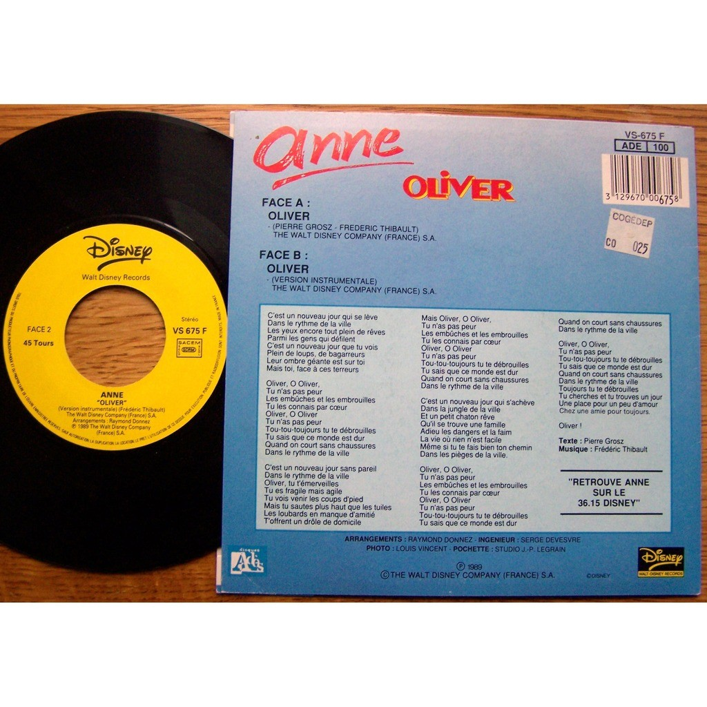 Anne SP Oliver parution 1989 M / NM