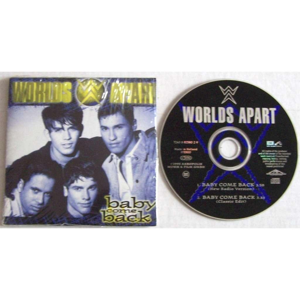 Worlds apart CD single 2 titres sous blister d'origine Baby come back parution 1995 M / M