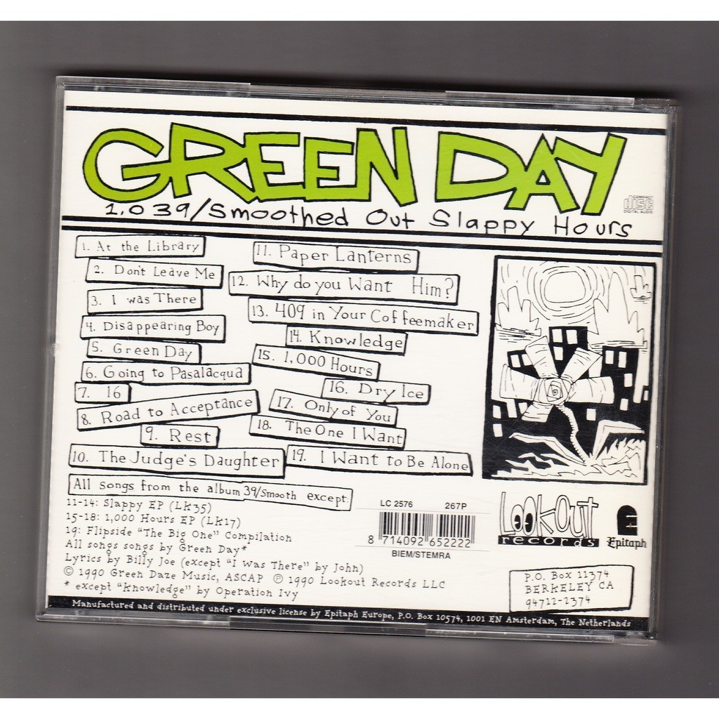 ... green day 1039/Smoothed out slappy hours ...