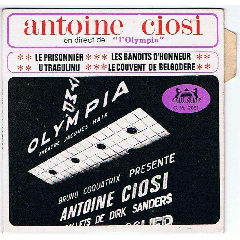 Antoine CIOSI & Matelot FERRET Olympia Live - Le Prisonnier (original French press - Great conditions - 1967 - Fleepback & Tag)