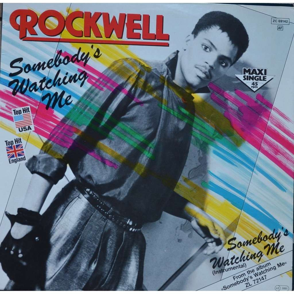 Somebody S Watching Me By Rockwell 12inch With Pycvinyl