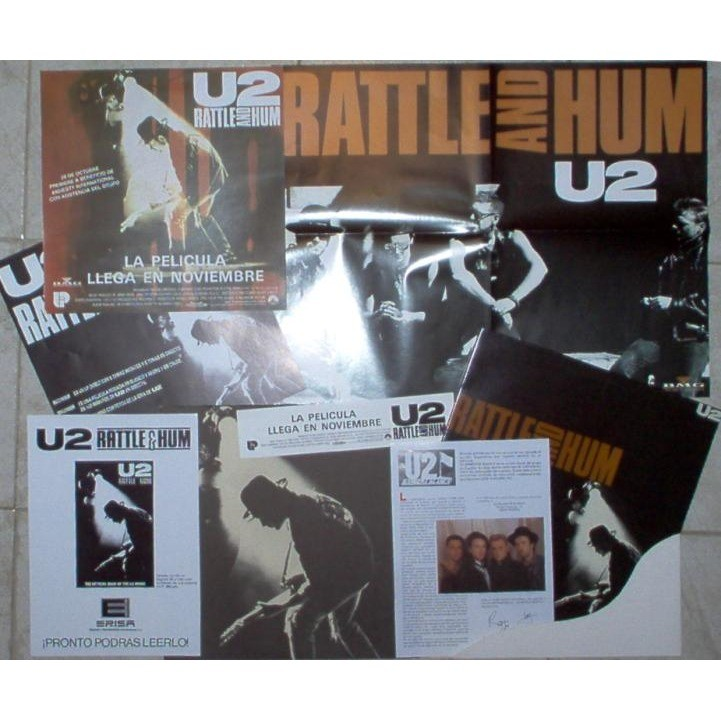 Rattle and hum (spanish 1988 ltd promo 2lp promo box & inserts & posters &  displays unique ps) by U2, LP x 2 with gmvrecords