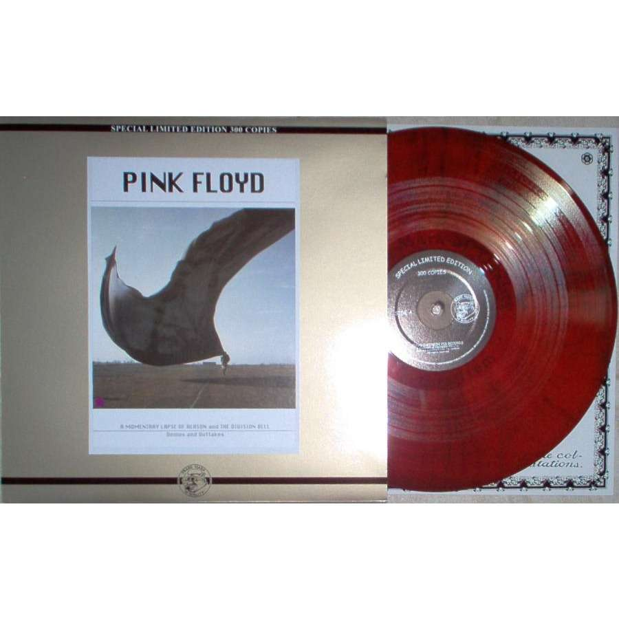 Pink Floyd A Momentary Lapse Of Reason & Division Bell (Ltd 300 copies Swinging Pig lbl LP RED vinyl ps)