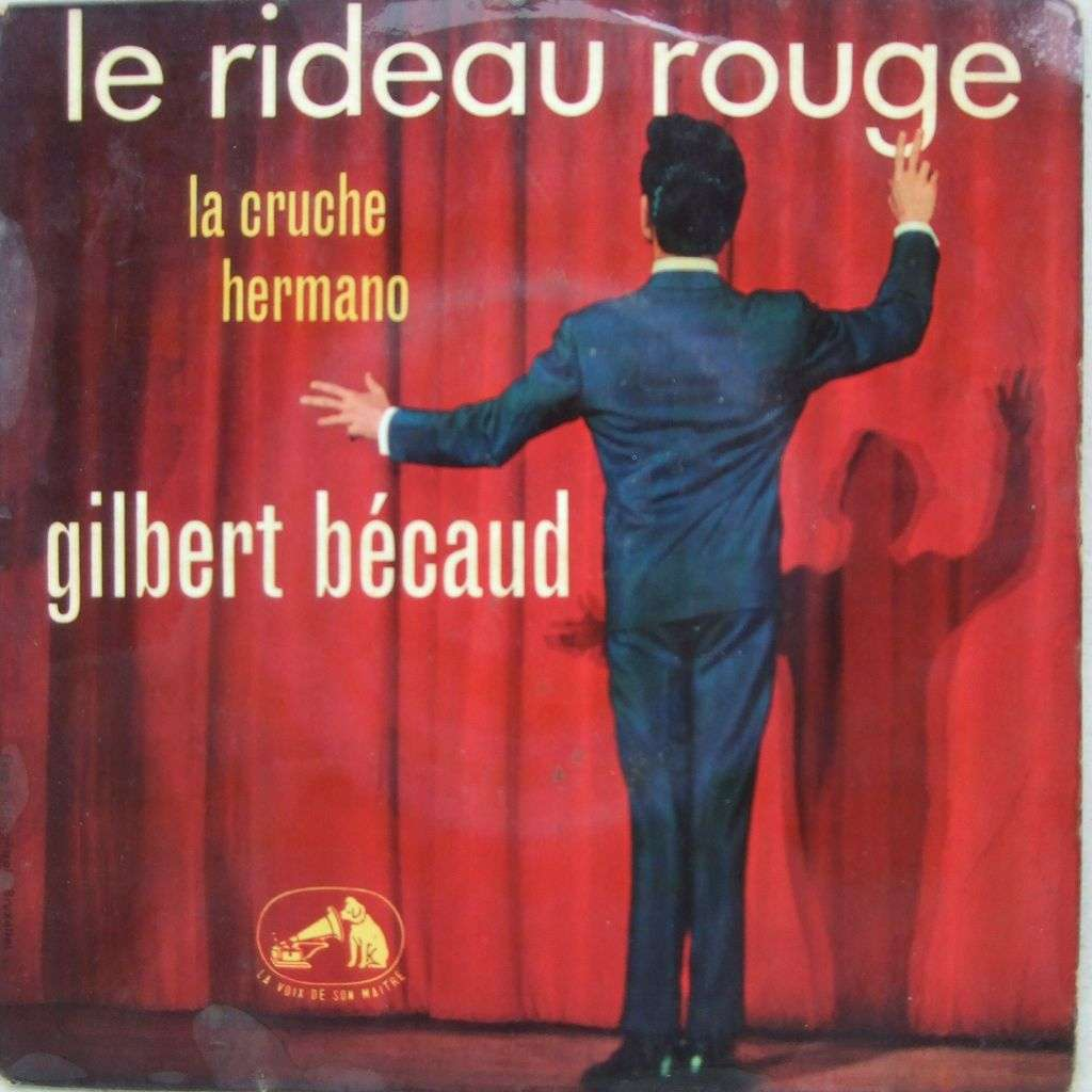 Le rideau rouge de Gilbert Becaud, EP chez mabuse - Ref:117873784