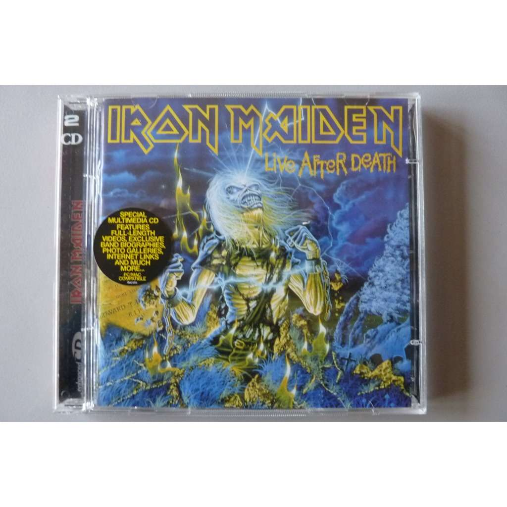 Live After Death By Iron Maiden Cd X 2 With Rocklio Ref