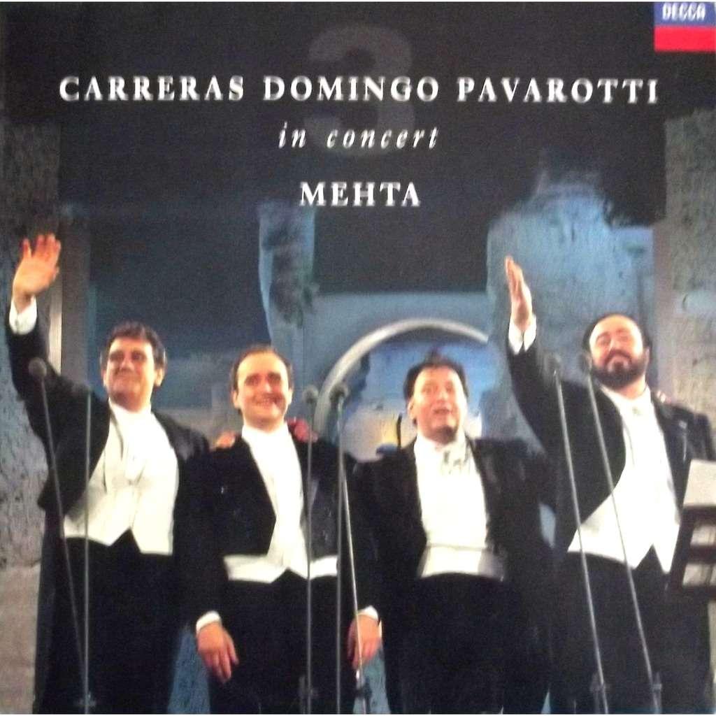 In Concert Mehta By Carreras Domingo Pavarotti Lp