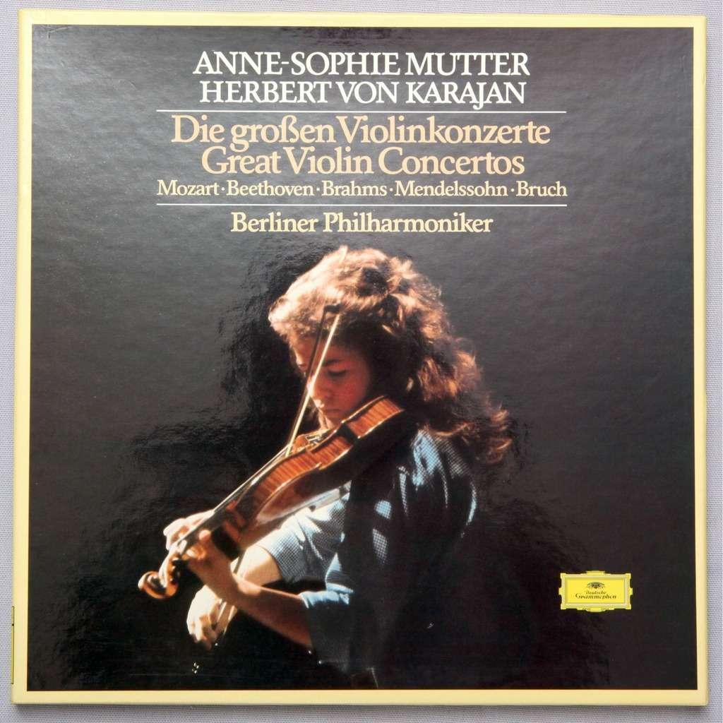 Mutter - Karajan MOZART violin concerto - DG box set - NM