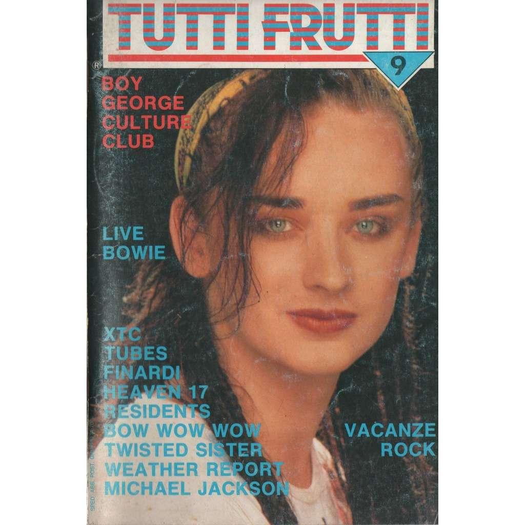 tutti frutti n 9 july 1983 italian 1983 boy george front cover