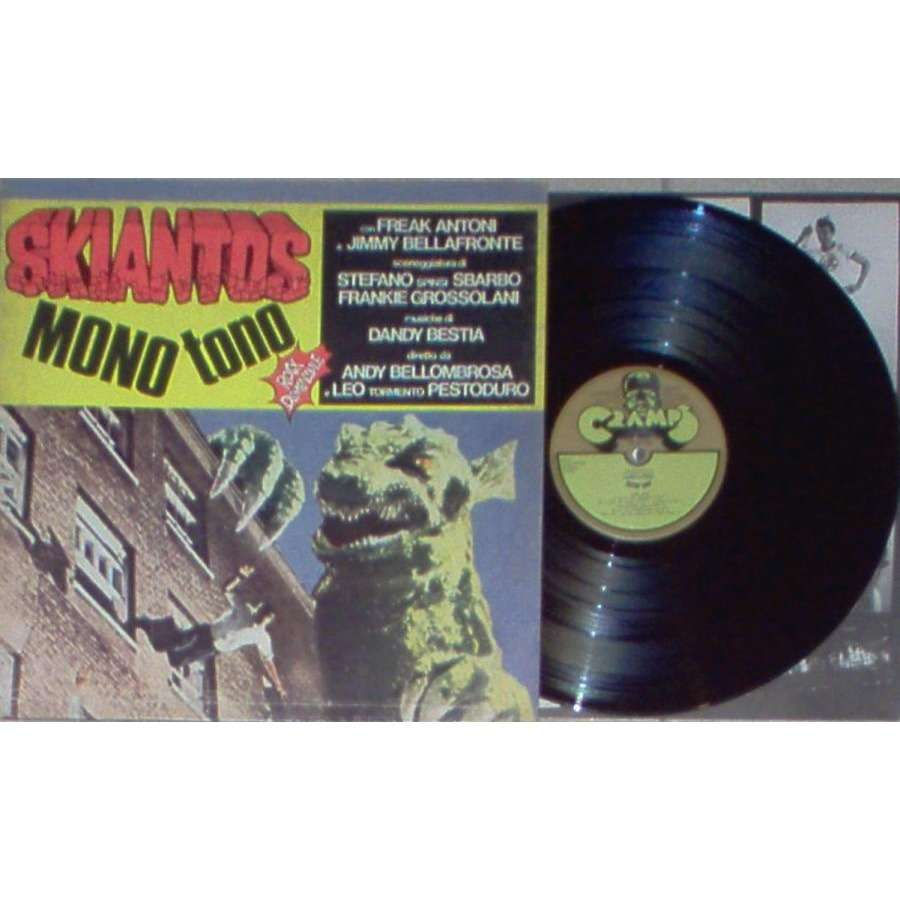 Skiantos Monotono (Italian 1978 17-trk LP on Cramps lbl full gf ps & inner slv)
