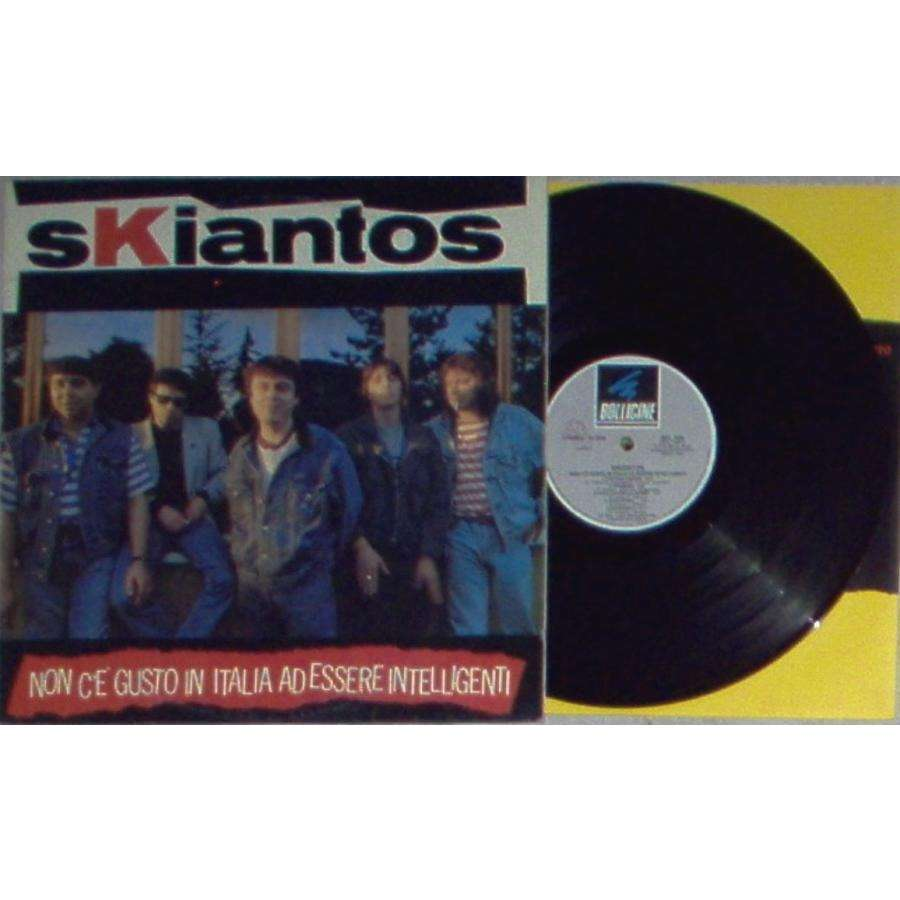 Skiantos Non C'e' Gusto In Italia Ad Essere Intelligenti (Italian 1987 10-trk LP full ps & inner slv)