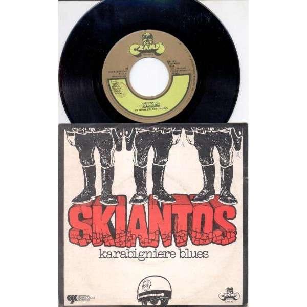 Skiantos Karabigniere Blues (Italian 1978 2-trk 7single on Cramps lbl full ps)