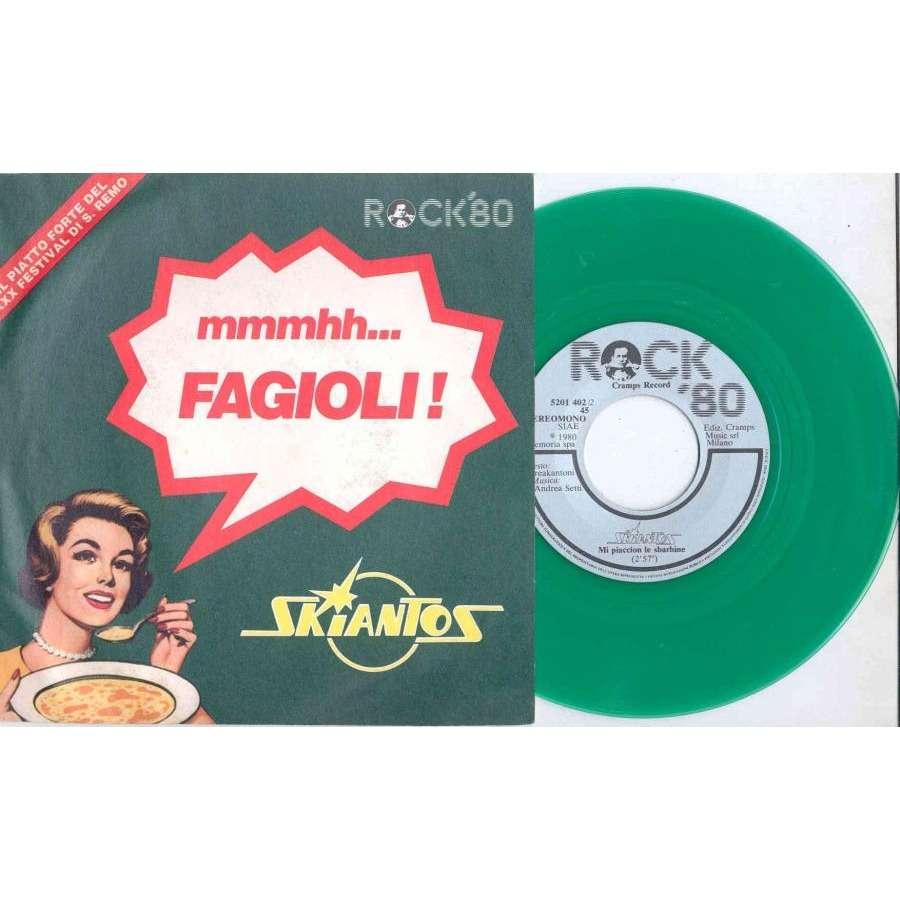 Skiantos Fagioli (Italian 1980 Ltd 2-trk 7single GREEN vinyl full ps)