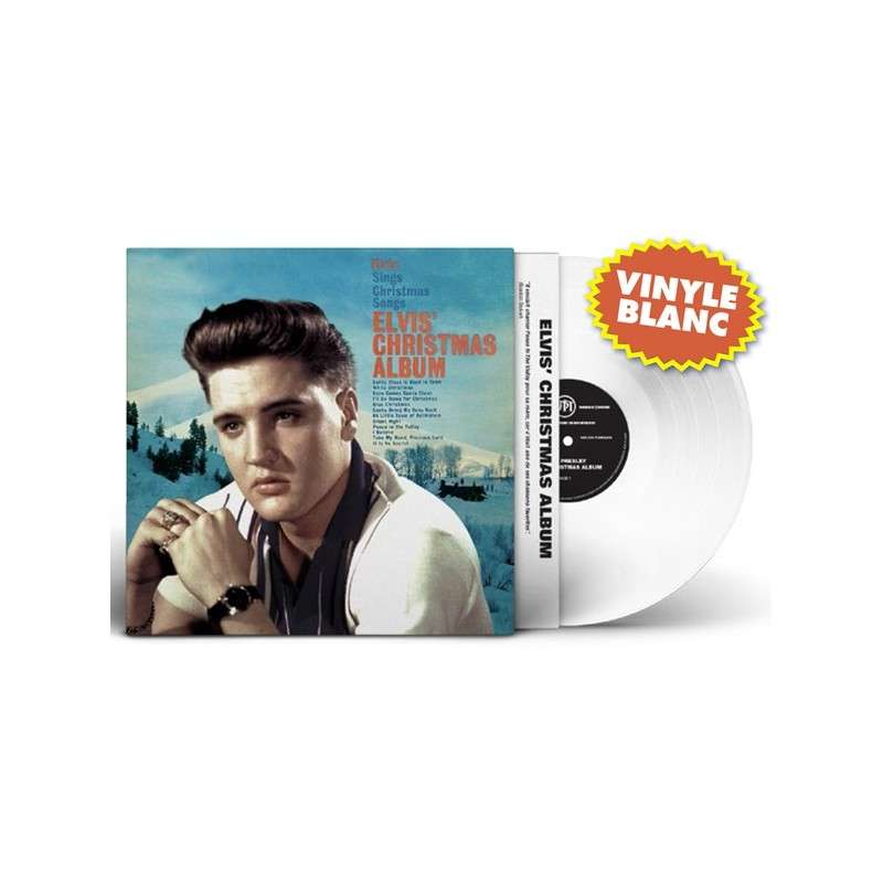 White vinyl blanc elvis christmas album lp 33 tours rare-12 songs ...