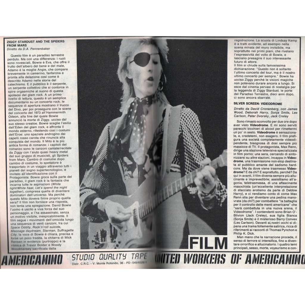 David Bowie Tutti Frutti (N.16 Feb. 1984) (Italian 1984 music magazine)