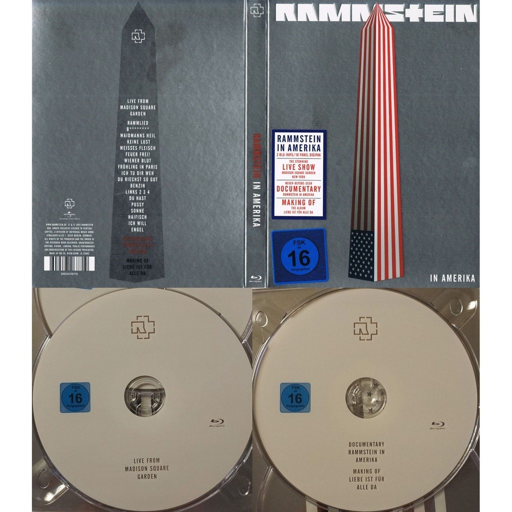 In Amerika By Rammstein Blu Ray Disc X 2 With Techtone11 Ref 117905887