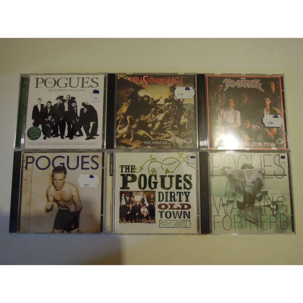 the pogues 6 cd - lot - waiting for herb, dirty old town, peace and love, red roses for me, rum sodomy...