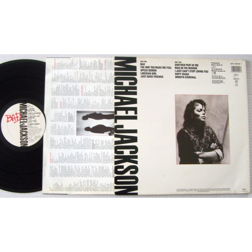 Lp bad by Michael Jackson, LP with lapopmusic902000