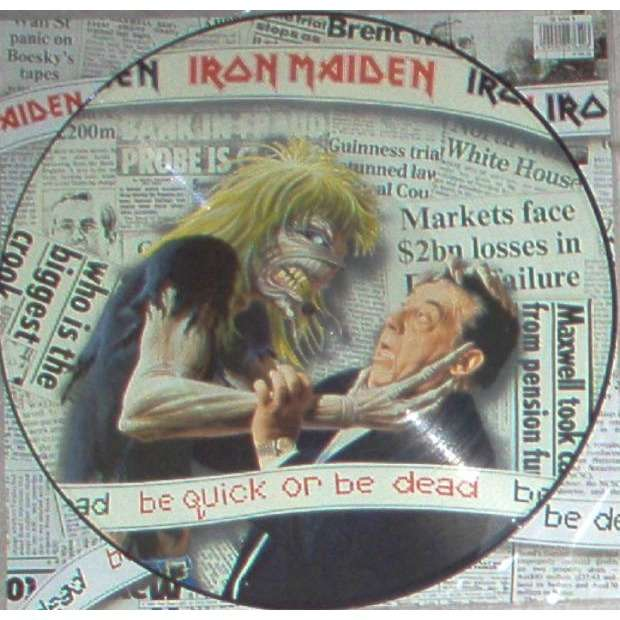 iron maiden Be Quick Or Be Dead (UK 1992 Ltd 3-trk 12EP Pictre Disc PVC slv & insert)