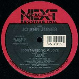 Jo Ann Jones - I Don't Need Your Love Jo Ann Jones - I Don't Need Your Love
