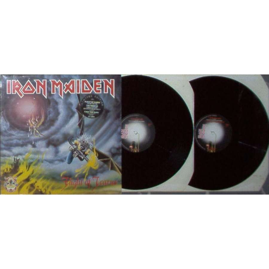iron maiden Flight Of Icarus / The Trooper (UK 1990 Ltd 'first 10 Years' 12ep double pack stickered gf ps)