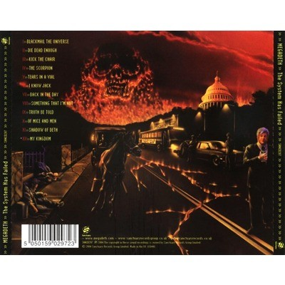 The system has failed by Megadeth, CD with ledotakas - Ref ...