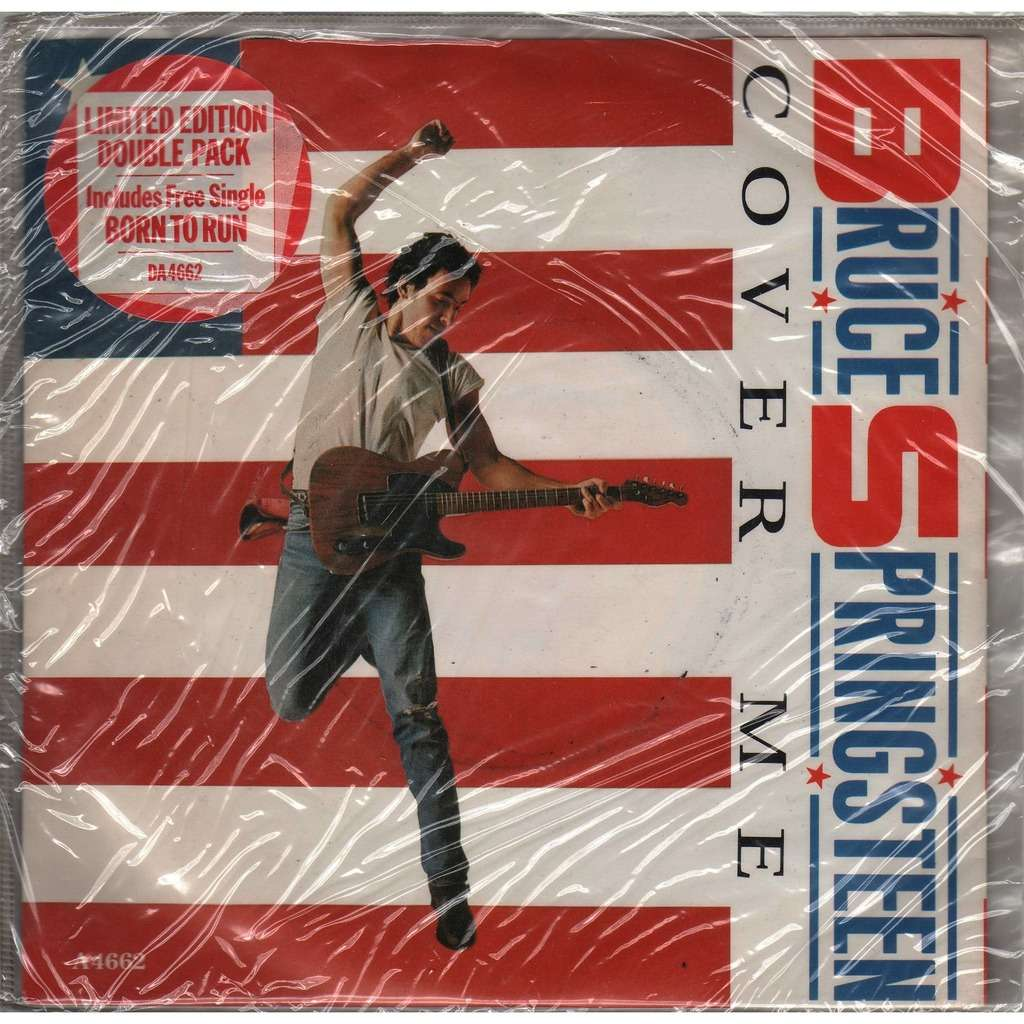 Bruce Springsteen Cover Me (UK 1984 Ltd 4-trk 7single Double Pack stickered ps-sealed copy!!)