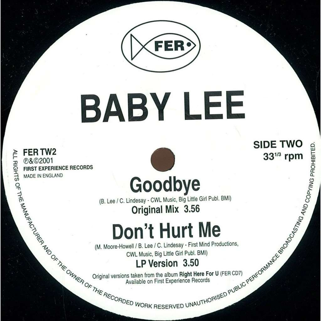 BABY LEE Goodbye Don't Hurt Me