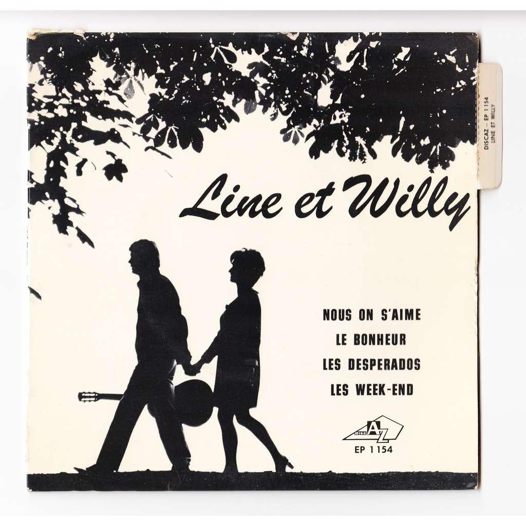 line et willy - Michel Colombier Nous on s'aime - languette
