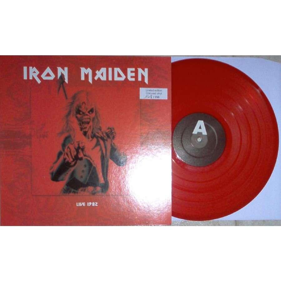iron maiden Live 1982 (UK Hammersmith Odeon 20.03.1982) (Ltd 250 copies live LP RED vinyl ps)