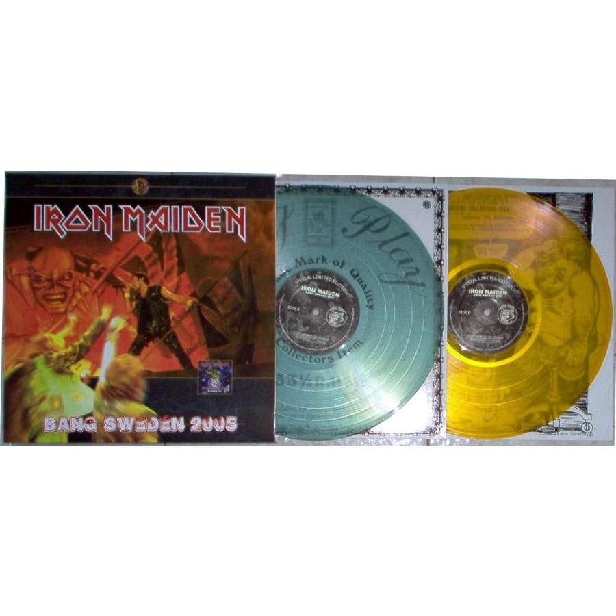 iron maiden Bang Sweden 2005 (Ltd 100 copies live 2LP set on Swinging Pig lbl gf ps)