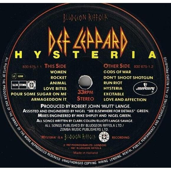 Hysteria Original Nederland Press Original Sticker