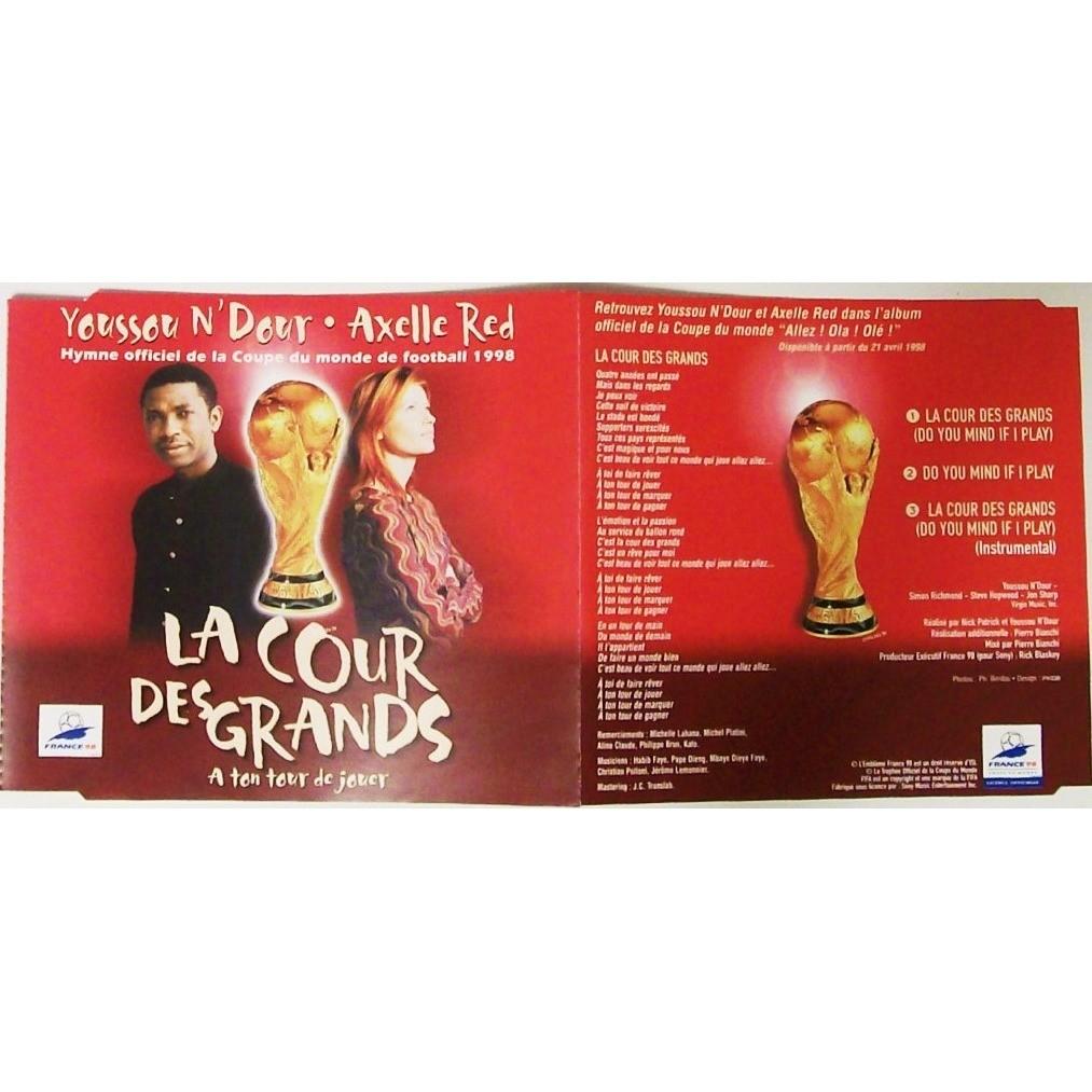 La cour des grands a ton tour de jour 3 tracks hymne officiel de la coupe du monde de foot - Hymne coupe du monde 1998 ...