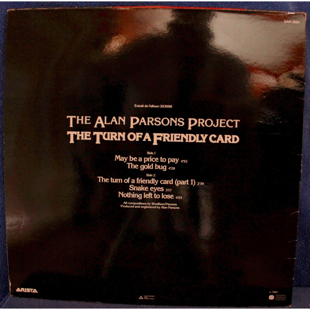 alan parsons project The turn of a friendly card