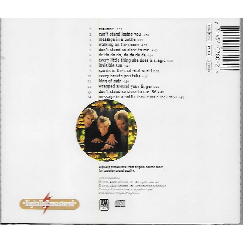 Greatest Hits By The Police Cd With Skyrock91 Ref 117973406