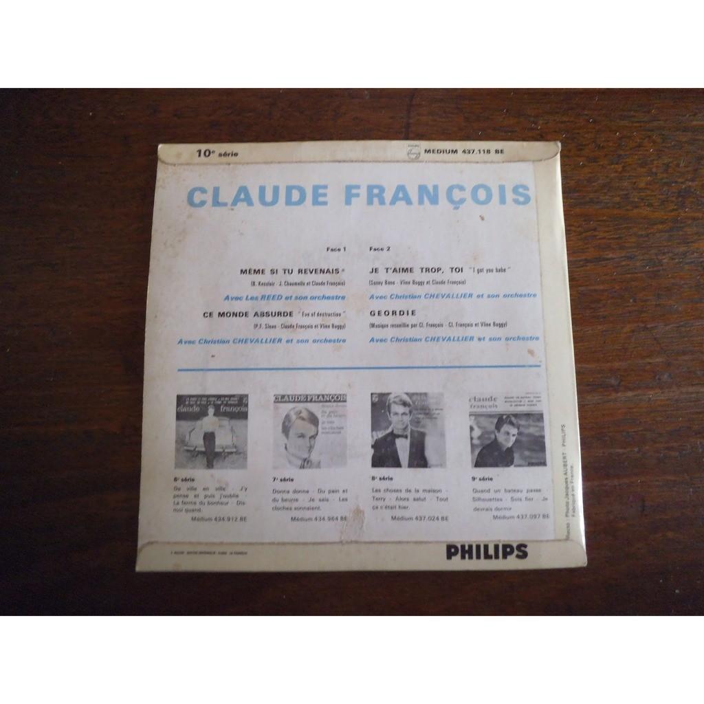 CLAUDE FRANCOIS MEME SI TU REVENAIS