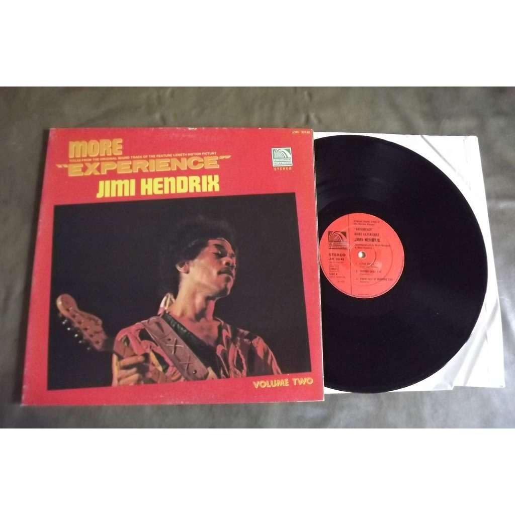 HENDRIX JIMI More Titles From The Original Sound Track Of The Feature Length Motion Picture Experience Vol 2