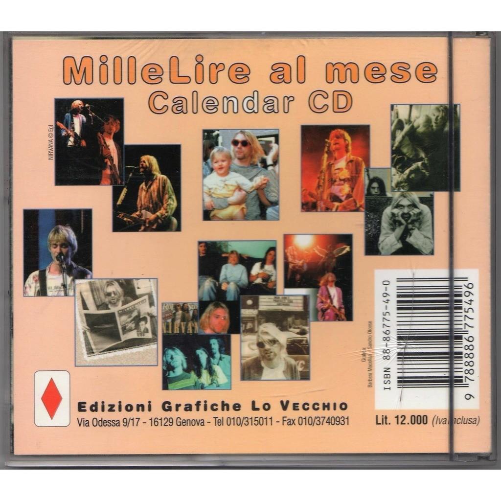 1998 Calendario.Calendario 1998 Italian 1997 Edizioni Lo Vecchio Desk Cd Case Calendar By Nirvana Calendar With Gmvrecords