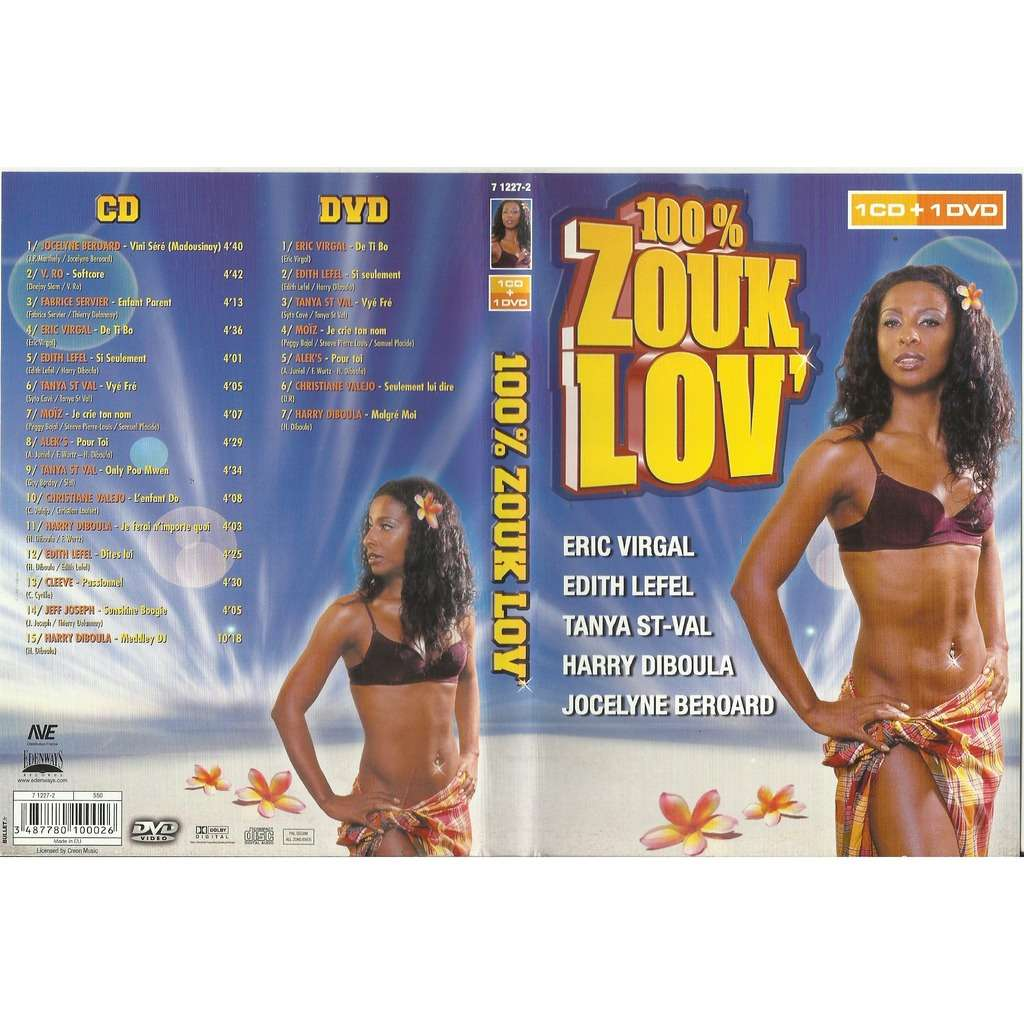 eric virgal- edith lefel 100%ZOUK LOV (1 CD +1 DVD)